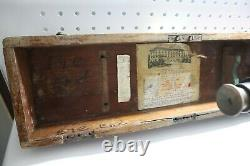 Nice Used Brass Antique Buff & Buff Surveyor Level Transit & Original Box #29836