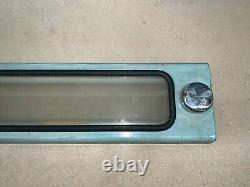 Ny Nyc Bus Roll Sign Box Glass Intact No Back Gears Work Original Old Paint