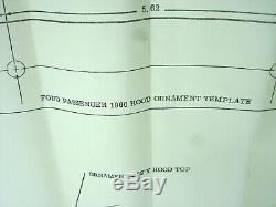 OEM Ford 1960 + Chrome Hood Car Ornament NOS / With Original Box # COAB16851A