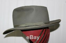 OMG! ANTIQ MENS STRATOLINER HAT N ITS TWA BOX With FULL PAGE'46 AD ALL EXCELLENT