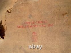 ORIGINAL 1961 HUNTER Wheel Balancer Balancing DEALER GARAGE DIST SIGN withBOX