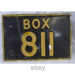 Original AA Telephone Box Exterior Plaque Sign 811 Vintage RARE