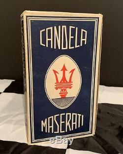 Original Classic Maserati Candela Spark Plugs Tipo Nm 225 Complete Box Of 10