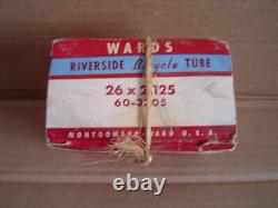 Original Montgomery Ward's Riverside Bicycle Tube 26x 2.125 60-3305 WithBox NOS