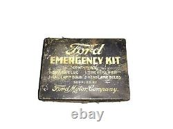 Original Rare Ford Emergency Kit Tin Box Motor Company Model A T