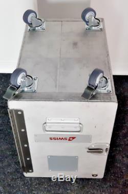 Original SWISS AIR Trolley Box service cart ATLAS box inkl. Innenleben