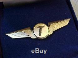 Original Vintage Tower Air Airlines Pilot Wings In Box