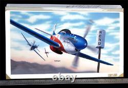 P-51d Reno Racer Air Original Revell Models Box Top Art Studio Painting 1990
