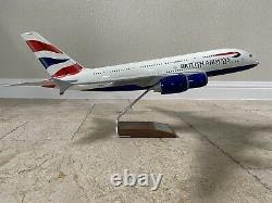 PacMin 1/100 British Airways Airbus A380-841 G-XLEH MSN 163 Model Original Box