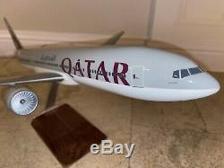 PacMin 1/100 Qatar Airways Boeing 777-200LR WorldLiner Model W Original Box