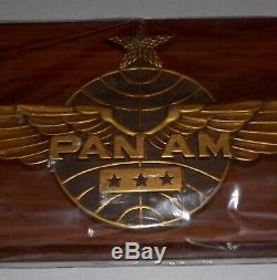 Pan Am Airlines Captain Co Pilot Wings Plaque Unused Original Box Mip 21