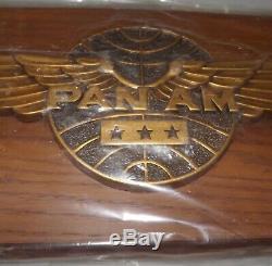 Pan Am Airlines Pilot Wings 3 Stars Plaque Unused Original Box Mip 21