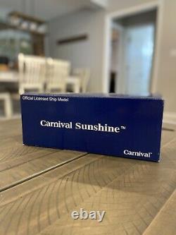 RARE Carnival Sunshine Cruise Ship Resin Souvenir Model In Original Box! NEW