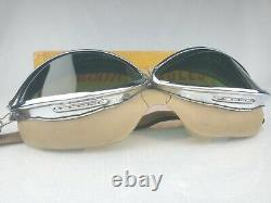 RARE Indian Motorcycle Rocket Goggles Green Lens & Chrome With Original Box