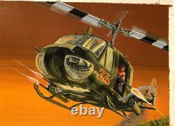 Rambo Attack Set Original Monogram Models Box Top Art Studio Painting Awesome