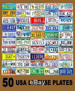 Random Box of 80 Original Real License Plates Used Plate Tag tags Bulk Wholesale