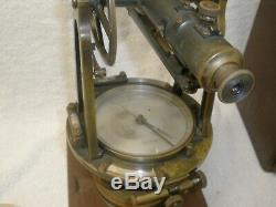 Rare Antique Brass K&E Keuffel Esser Co. New York Survey Transit Original Box
