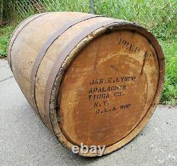 Rare Delaware Lackawanna Western Railroad Wooden Barrel Rustic Keg Apalachin NY