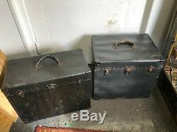 Rare Original Wwii Aircraft Airplane Runway Obstacle Lights & Power Boxes