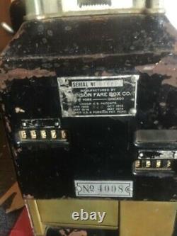 Rare Vintage Original Johnson Subway Trolley Train Fare Box