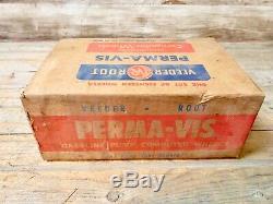 Rare Vintage Original Veeder Root Perma-Vis Gas Pump Computer Wheels In Box
