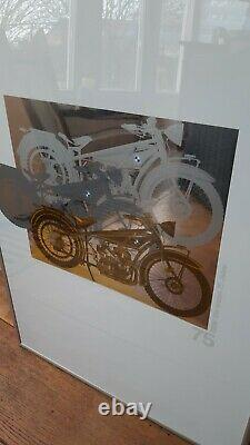 Rare original 75 years BMW, R32 model, limited 1998 print in frame with box