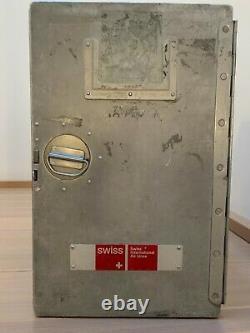 SWISS AIR Original Galley Box. Airplane Storage Unit. Aluminium Box