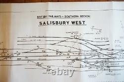Salisbury West Original Signalling Signal Box Sidings Railway Plan Diagram
