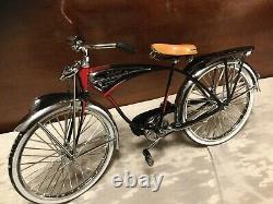 Schwinn Black Phantom Bicycle Die Cast Model 16 Scale In Original Box