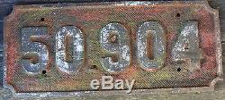 Smokebox, Nummernschild CFR 50.904 ex original G10, ex Lok, Eisenguss rar