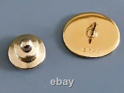 Solid 10K Gold General Motors GM Retirement Lapel Pin with Original Box