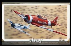 T-6 Texan Reno Air Racer Orig Revell Models Box Top Art Studio Painting 1990