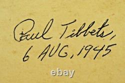 Very Rare Paul Tibbets Signed 1945 Original Aircraft Instrument with Signed Box