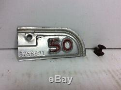 Vintage 1947 California License Plate 1950 Corner Tag Car Rare Original 67b99007