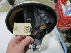 Vintage 1950's Harley Davidson Cruiser Half Helmet, Visor Original Box Excellent