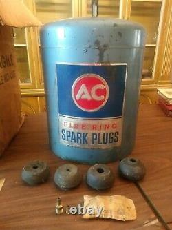Vintage 60's AC Fire Ring Spark Plugs Cleaner with (4) bushings & Original Box