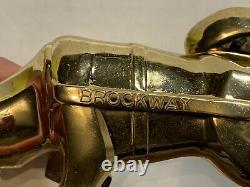 Vintage BROCKWAY Gold Husky Truck Hood Ornament New In Original Box