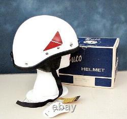 Vintage BUCO Traveler Half Helmet withEar Flaps In Original Box 6 3/4 to 7 3/8 NOS