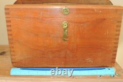 Vintage Berger Boston Mass Surveying Transit Scope 200a Original Wood Box Mint