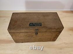 Vintage Berger Boston Mass Surveying Transit Scope 2m #19771 Original Box