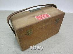 Vintage Berger Engineering Model No 110 Line Level Transit Original Wooden Box