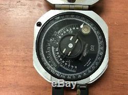 Vintage Brunton Pocket Transit Compass Leather Case Original Box Instructions