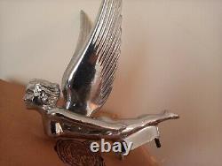 Vintage Chrome Angel Goddess Hood Ornament Original Brand New in Box