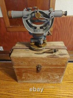 Vintage Early David White Survey Transit Level Original Wooden Box
