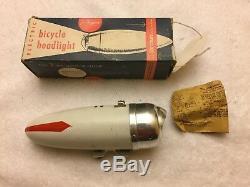 Vintage Nos J. C. Higgins Bicycle Headlight With Original Box