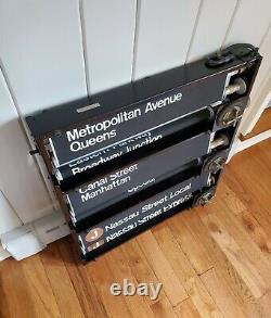 Vintage Nycta Nyc Subway Roll Sign Box R-27-30 Complete Original Box Bmt