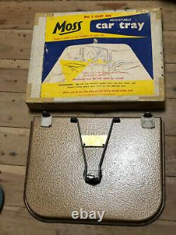 Vintage Original Accessory Drink Snack Tray Chevy Ford Moss in Box car clip on