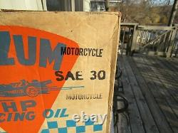 Vintage Original Oilzum H. P. Motorcycle Racing Oil Box 24 Qt Can Box Only Look