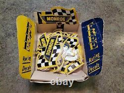 Vintage Original Racing Stickers Advertising MONROE Shocks w Original Dealer Box