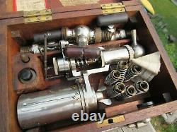 Vintage Original Thompson Improved Steam Indicator Guage And Accessories Boxed
